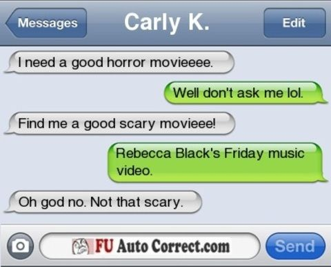 scary text messages scary movie f you auto correct funny