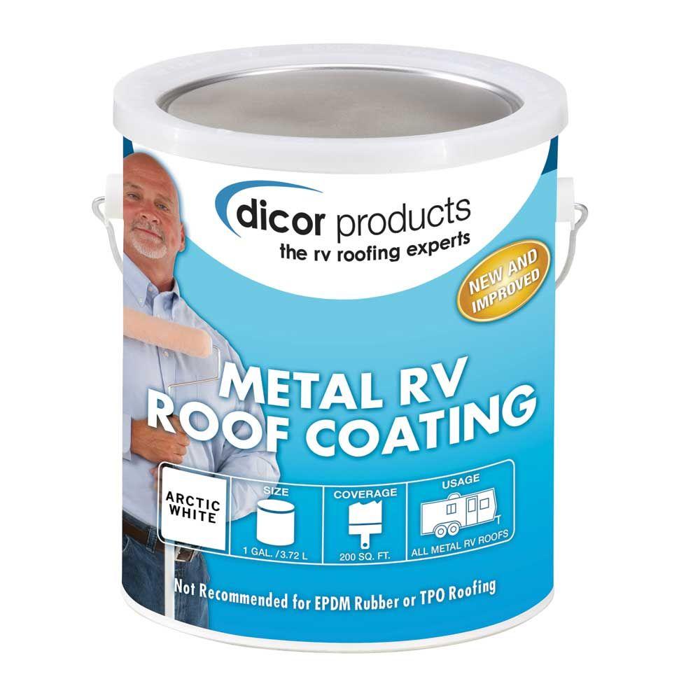 Dicor Elastomeric Rv Roof Coating Gallon Roof Coating Metal Roof Repair Roof Repair
