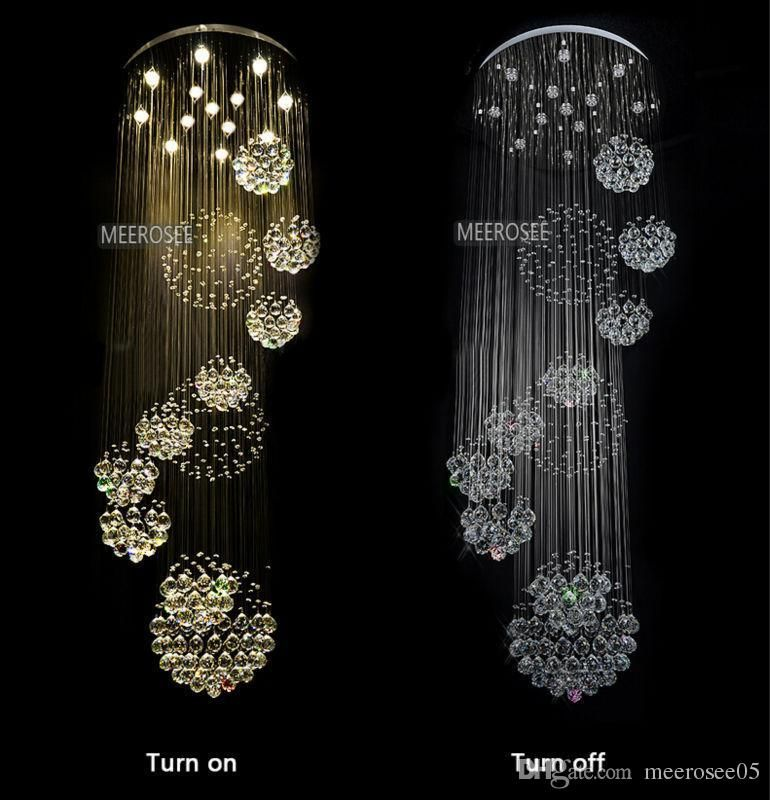 2017 Abajur Chandeliers Modern Chandelier Large Crystal Light Fixture For Lobby Staircase Stairs Foyer Long Spiral Re Ceiling Lamp Online With