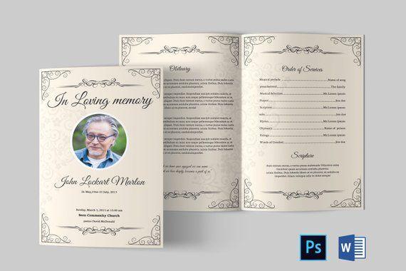Funeral Program Template Funeral Program Template Word Funeral