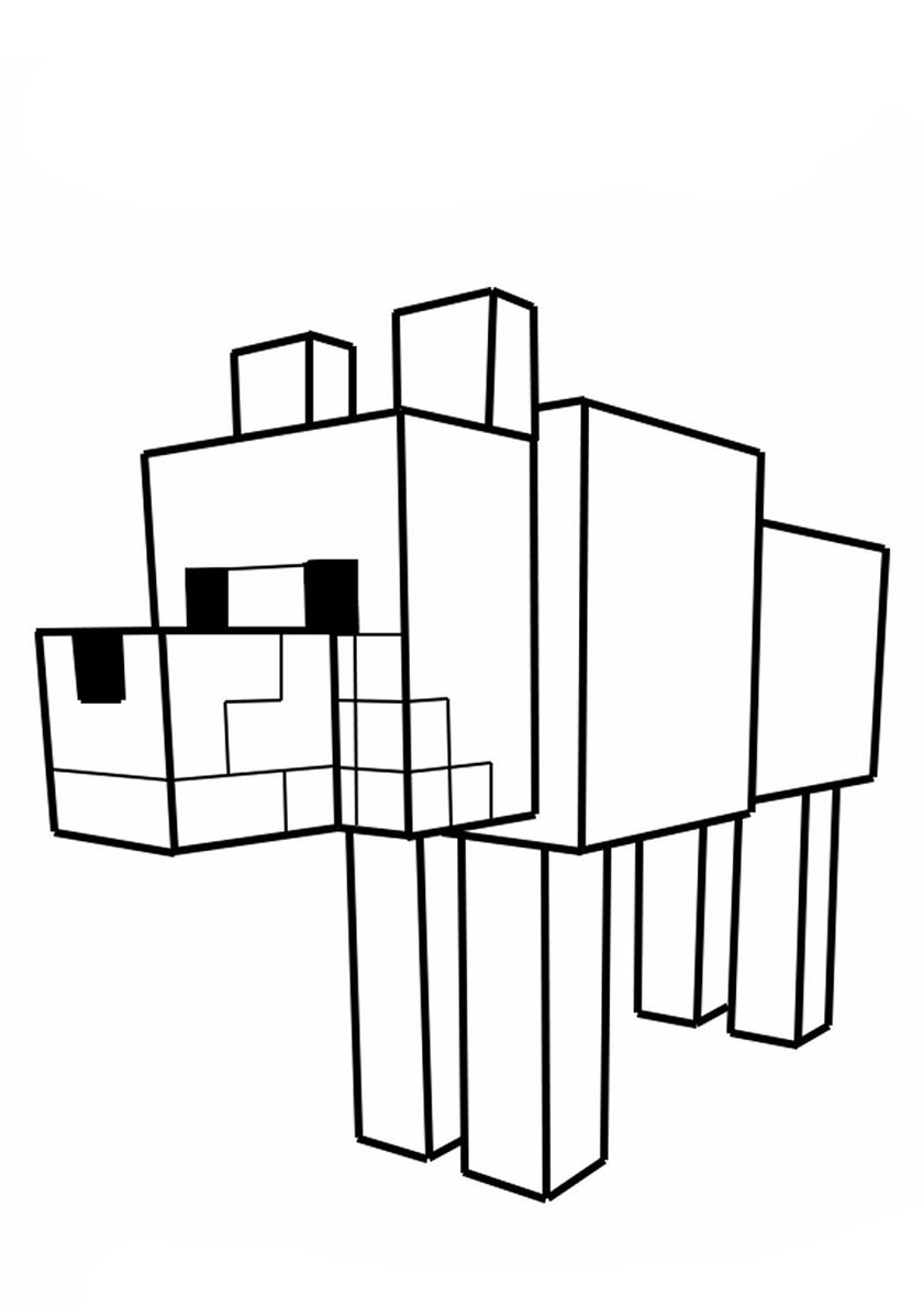 Wolf Minecraft High Quality Free Coloring From The Category Minecraft More Printable Pictures On Minecraft Coloring Pages Coloring Pages Printable Pictures