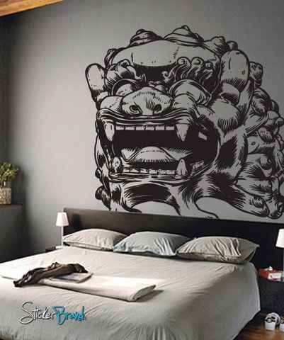 Vinyl Wall Decal Sticker Asian Chinese Dragon Statue Vinyls - Vinyl wall decals asian