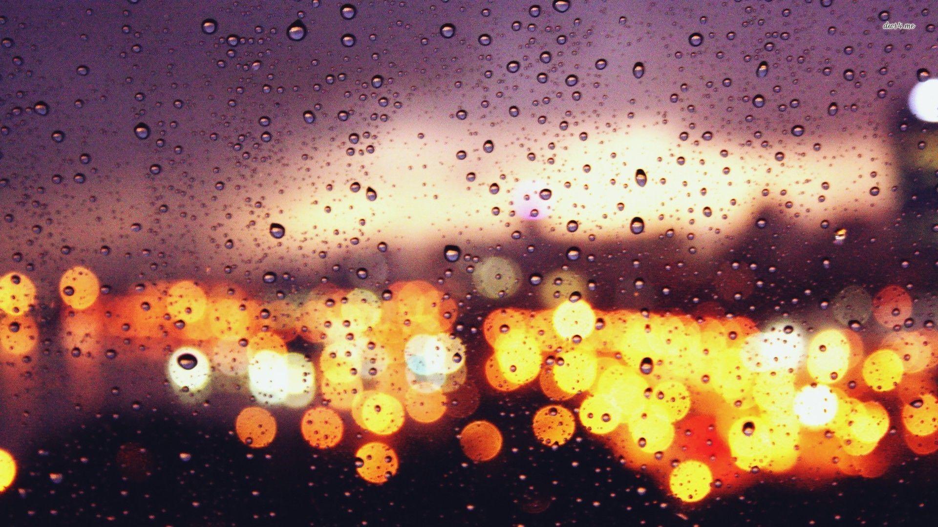 Blurry sparkles google search city rain window - Rainy window wallpaper ...