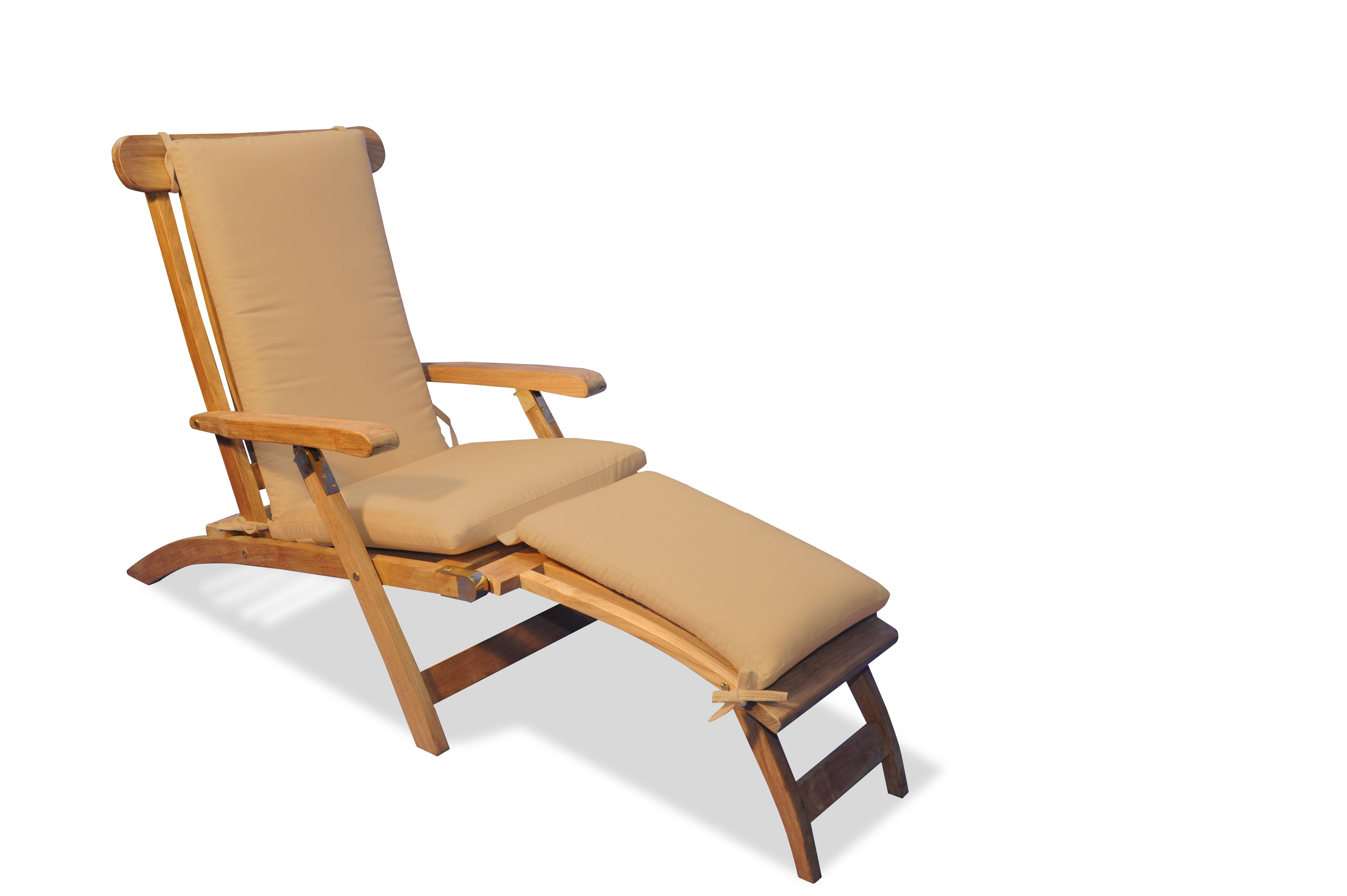 Swell Teak Steamer Chair Chaise Lounge And Cushion Set Lounge Theyellowbook Wood Chair Design Ideas Theyellowbookinfo
