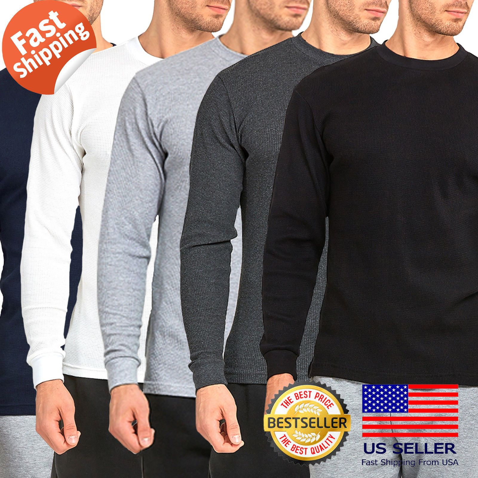 3aadd2d7 Casual Button-Down Shirts 57990: Mens 100% Cotton Medium Weight Thermal  Shirts Warm Winter Long Sleeve Fit -> BUY IT NOW ONLY: $11.25 on #eBay  #casual ...