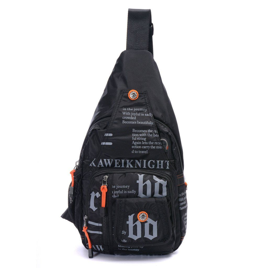 c3a6ce9044 DDDH Vintage Sling Pack Unisex Small Military Shoulder Chest Bag Daypack  For Bicycle Sport Leisure Hiking Travel Camping BackpackBlack     Details  can be ...