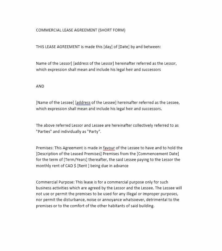 10+ Lease Agreement Templates Word, Excel \ PDF Templates www - new consent letter format pdf