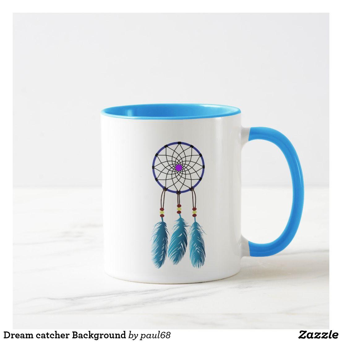 Dream Catcher Background Mug Zazzle Com In 2020 Mugs Dream Catcher Color Dream