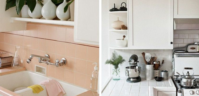 Utilizar azulejos en la encimera de la cocina Buenas ideas