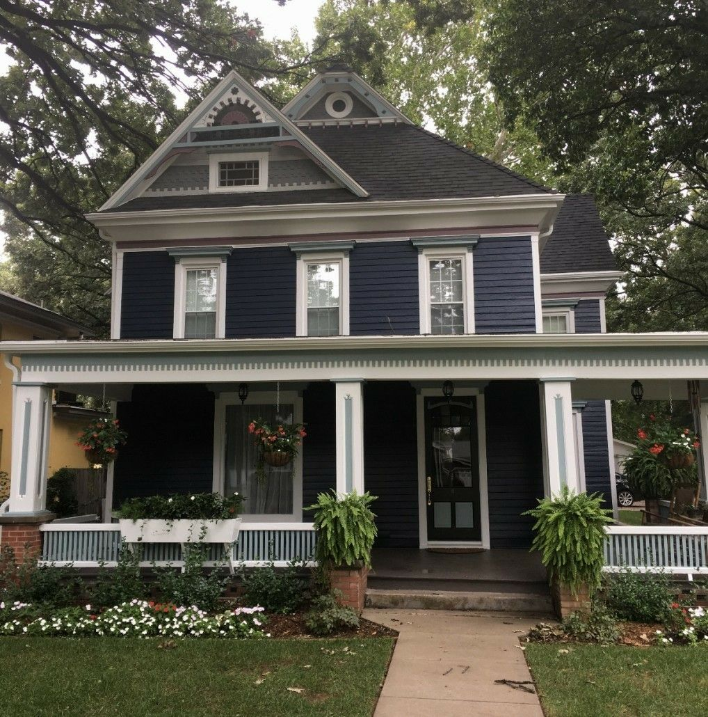 Nice Example Of Navy Blue Exterior Paint