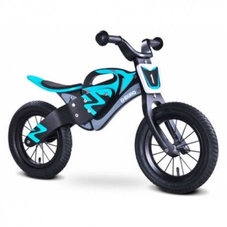 Enduro Kids Children Wooden Balance Bike Black Blue 59 99