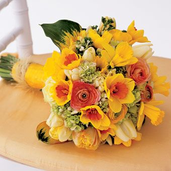 Yellow and Orange Wedding Bouquet | Daffodils, Daffodil bouquet and ...