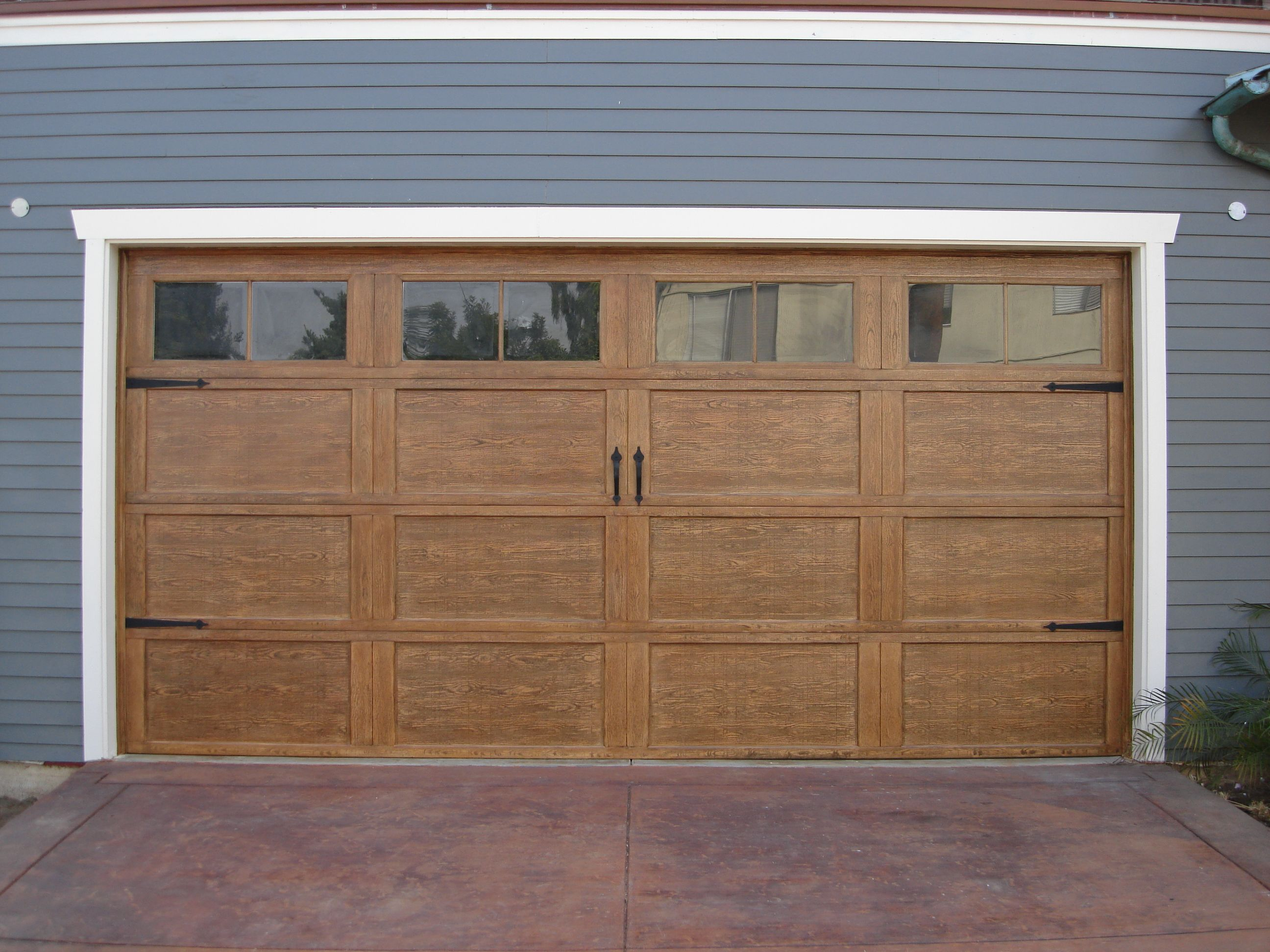 Glass garage door interior - Garage Door Trim