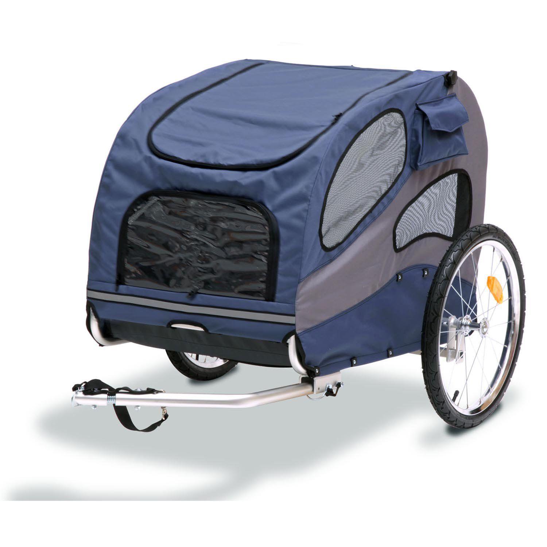 Solvit HoundAbout Pet Bicycle Trailer, Large, Blue Dog