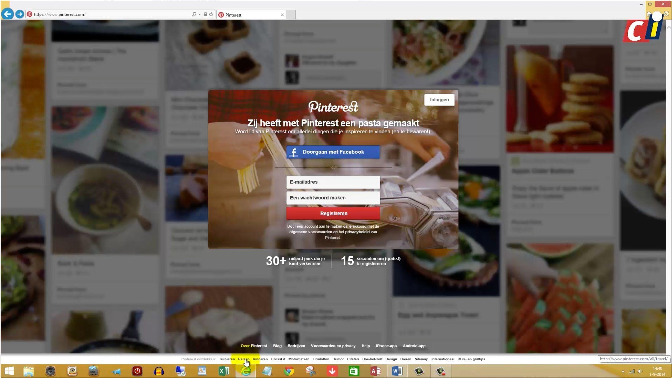 Pinterest is een sociaal netwerksite die je kunt gebruiken als prikbord. Je kunt over het hele web afbeeldingen en filmpjes pinnen en vervolgens op een van d...