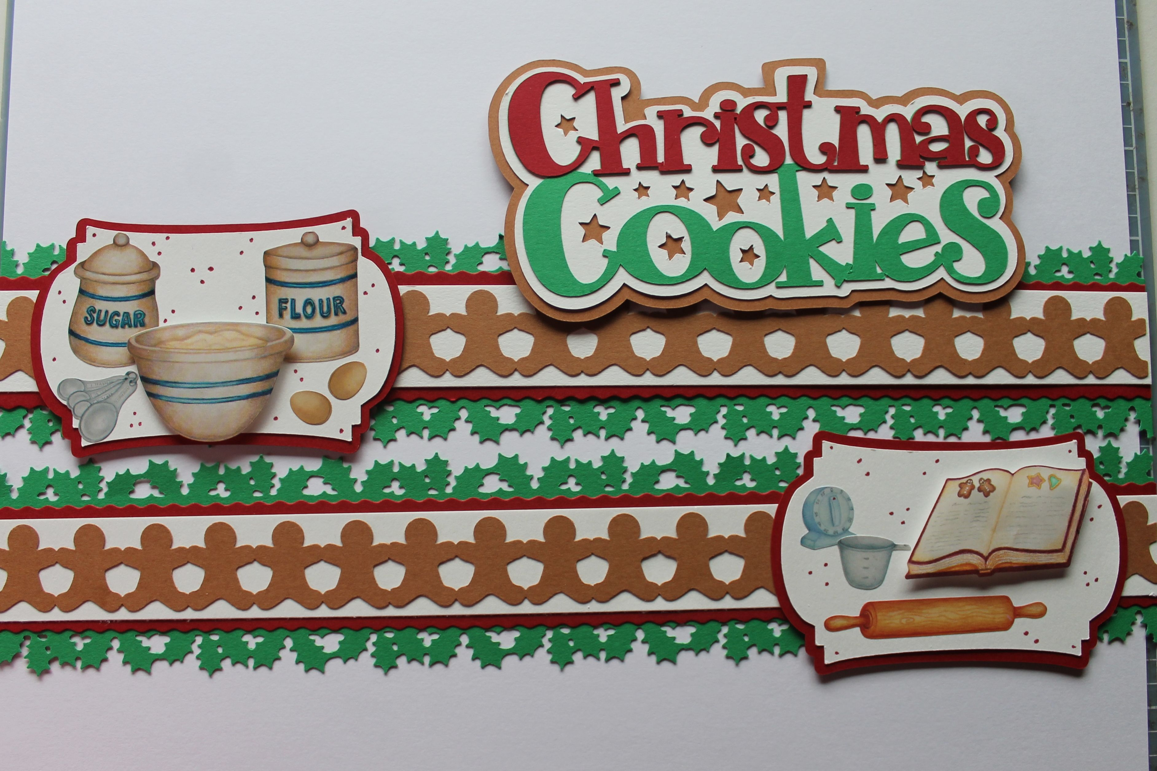 Had to try my new Holly border punch with the Christmas Cookie stickers I am trying to use up.