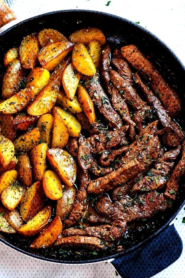 Butter Steak and Potatoes Skillet - Garlic Butter Steak and Potatoes Skillet – This easy one-pan