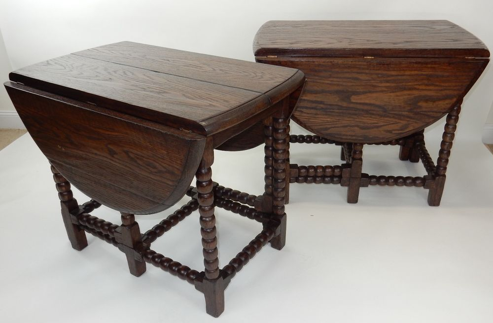 pair of antique english oak drop leaf gate leg tavern tables opens rh pinterest com