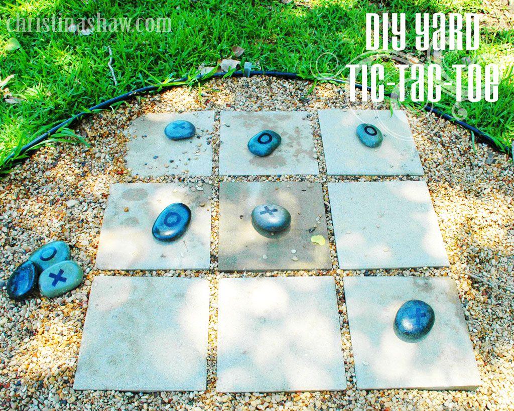 diy tutorial yard tic tac toe game christinashaw com i diy