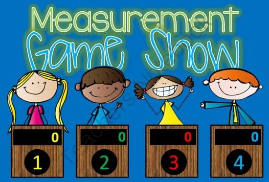 Measurement GAME SHOW - 1st-2nd Grade w Contestants interactive ppt from TinyToes on TeachersNotebook.com -  (25 pages)  - Measurement Jeopardy style game show for 1st and 2nd Grade.