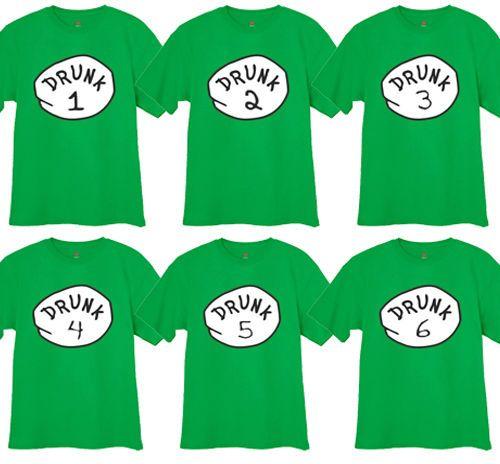 31d34e6b7 Choose Drunk 1 2 Funny St Patricks Pattys Day Pub Bar Crawl Tee Shirt Tshirt    eBay