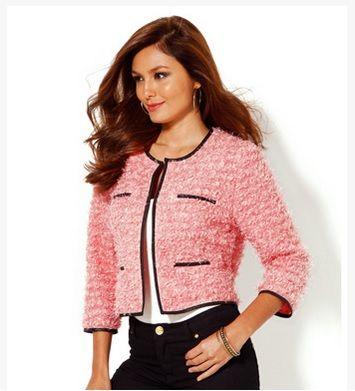 Chaqueta corta mujer tricot 15 a40d41a0bb2d
