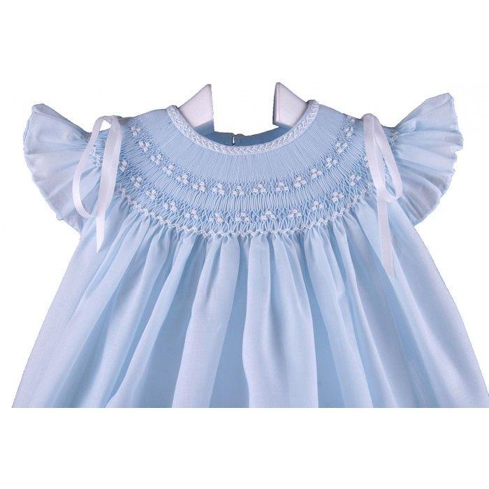 Vestido y braguita lazos azul