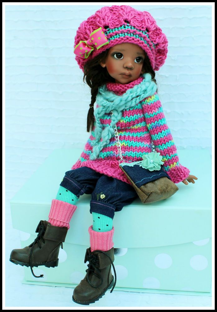FALL SWEATER SET #1PINK TALYSSA YANI MSD KAYE WIGGS DOLLS BY BARBARA #ClothingAccessories