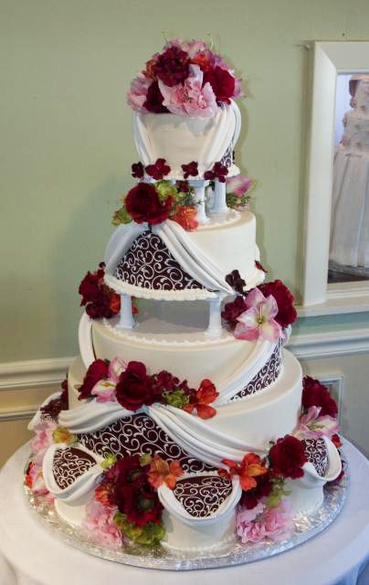 Enjoyable Super Modern Rendition Of A Traditional Tier Wedding Cake With Funny Birthday Cards Online Overcheapnameinfo