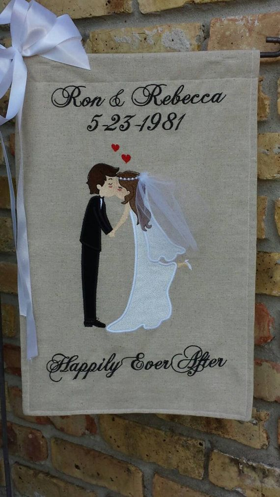 Genial Personalized Wedding Garden Flag By BlessedSewMuch On Etsy