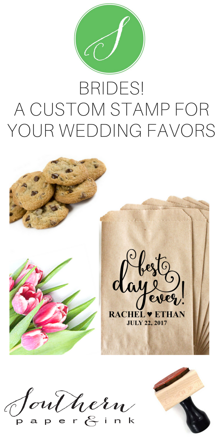 BEST DAY EVER Stamp! A Wedding Cookie Favor Bag stamp is perfect to ...