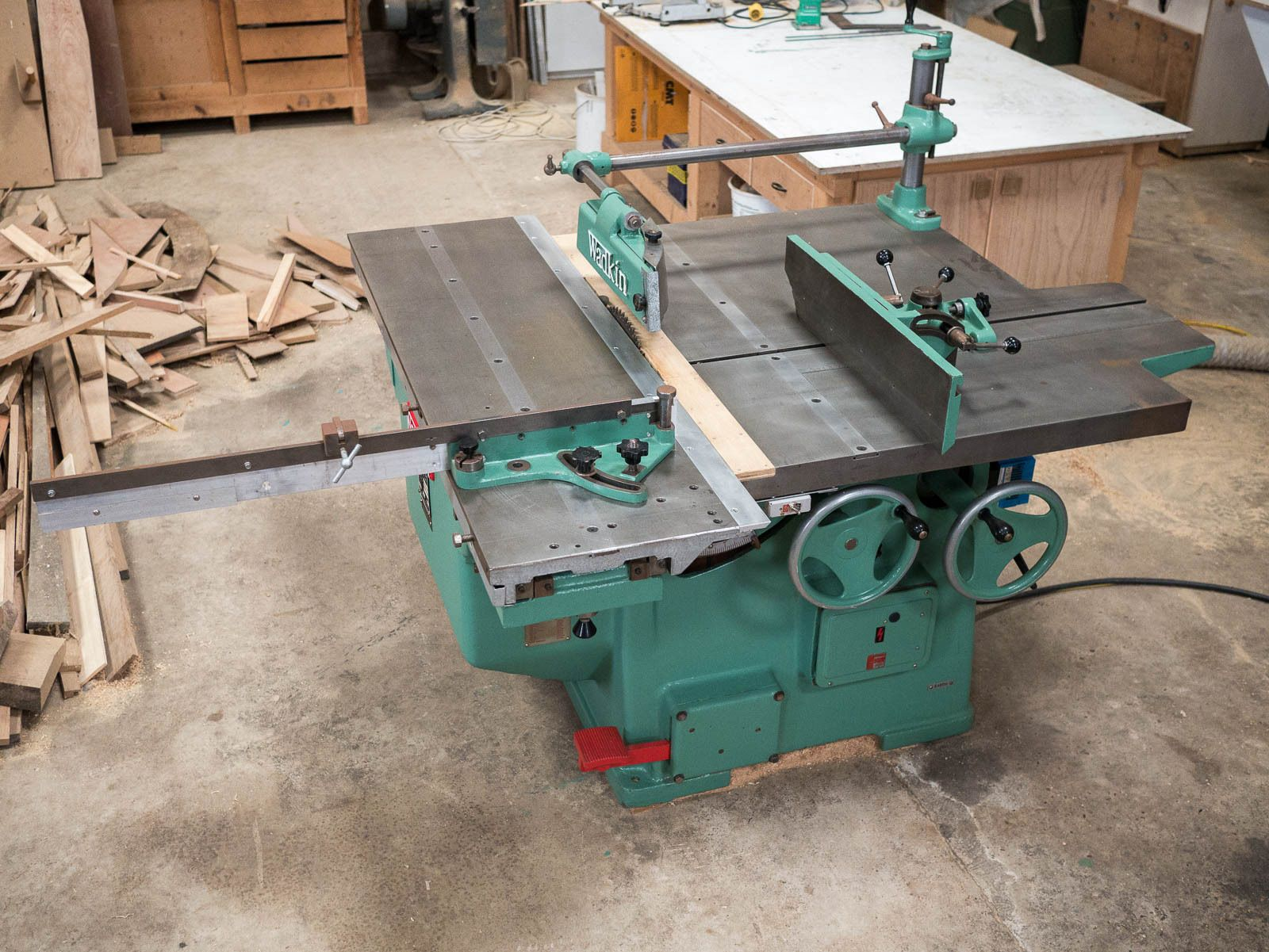 """Wadkin PP 450 18"""" Panel Dimension Rip Saw Bench 3-phase In"""