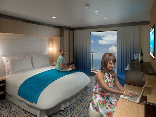 Quantum Of The Seas Inside Stateroom Projection Screen Displays