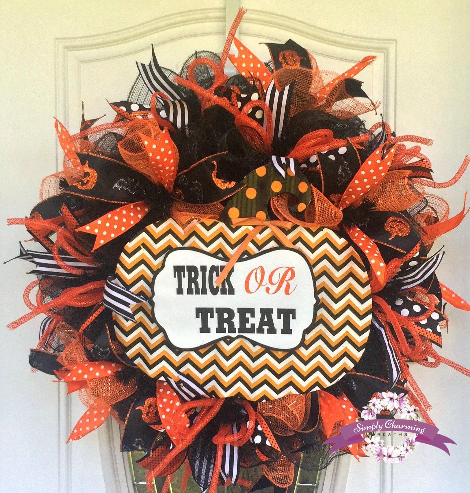 Halloween Wreath, Halloween Wreaths, Welcome My Pretties Wreath, Front Door
