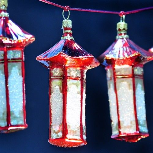 Asian Lantern Ornament - asian - holiday decorations - - by Ornaments to  Remember