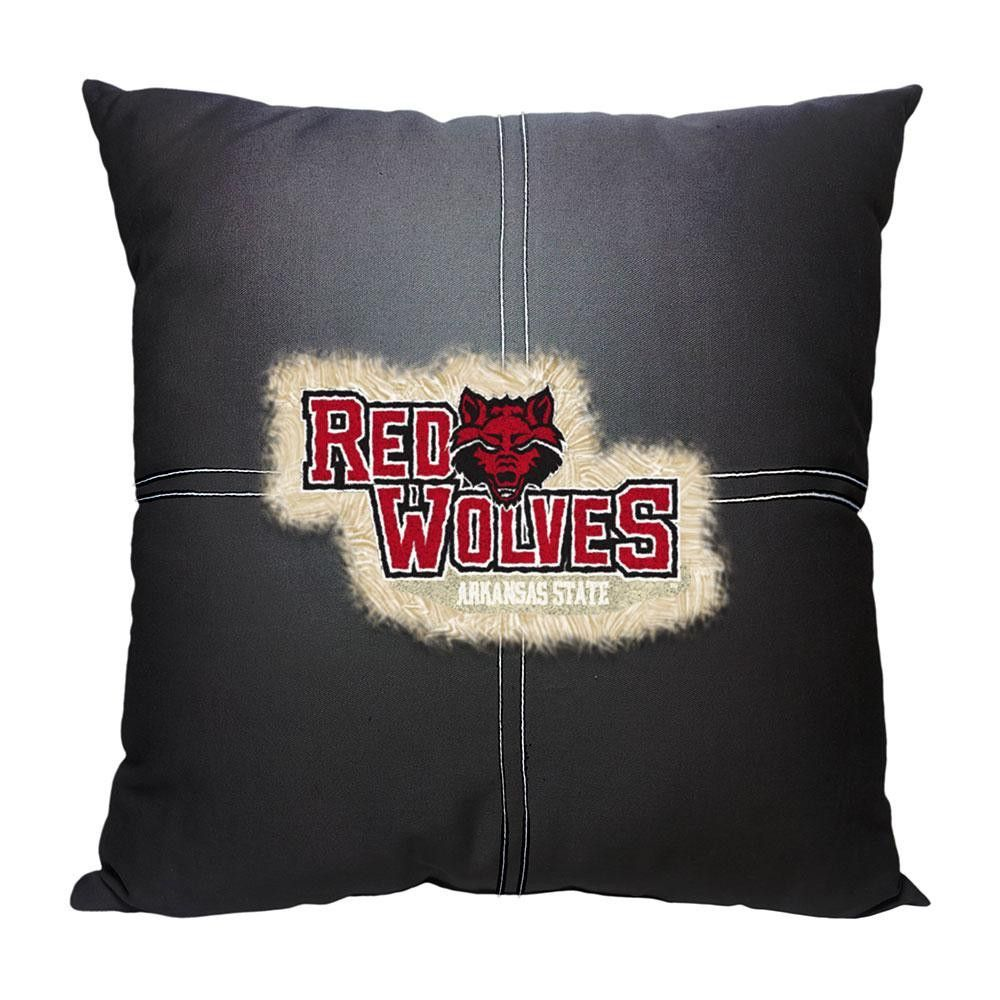 7914efd3dbe8 Arkansas State Red Wolves NCAA Team Letterman Pillow (18x18 ...