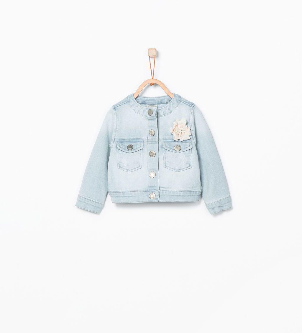 Zara Kids Denim Jacket With Flower Zara Kids