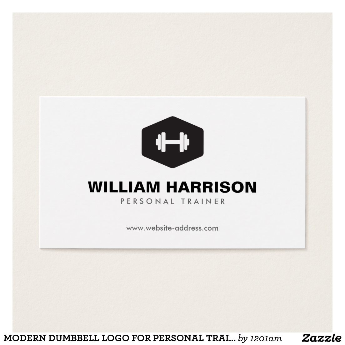 MODERN DUMBBELL LOGO FOR PERSONAL TRAINER, FITNESS on Zazzle ...