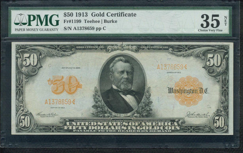 Us fifty dollar bill 50 a1378659p gold certificates ch vf 50 a1378659p gold certificates ch vf 1913 fifty 1betcityfo Gallery
