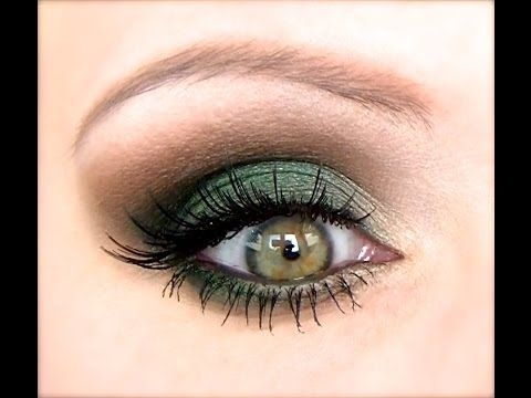 Green and white stan independence day eye makeup perfect green makeup idea emerald or shamrock any shade just need light green smokey eye shadow tutorial