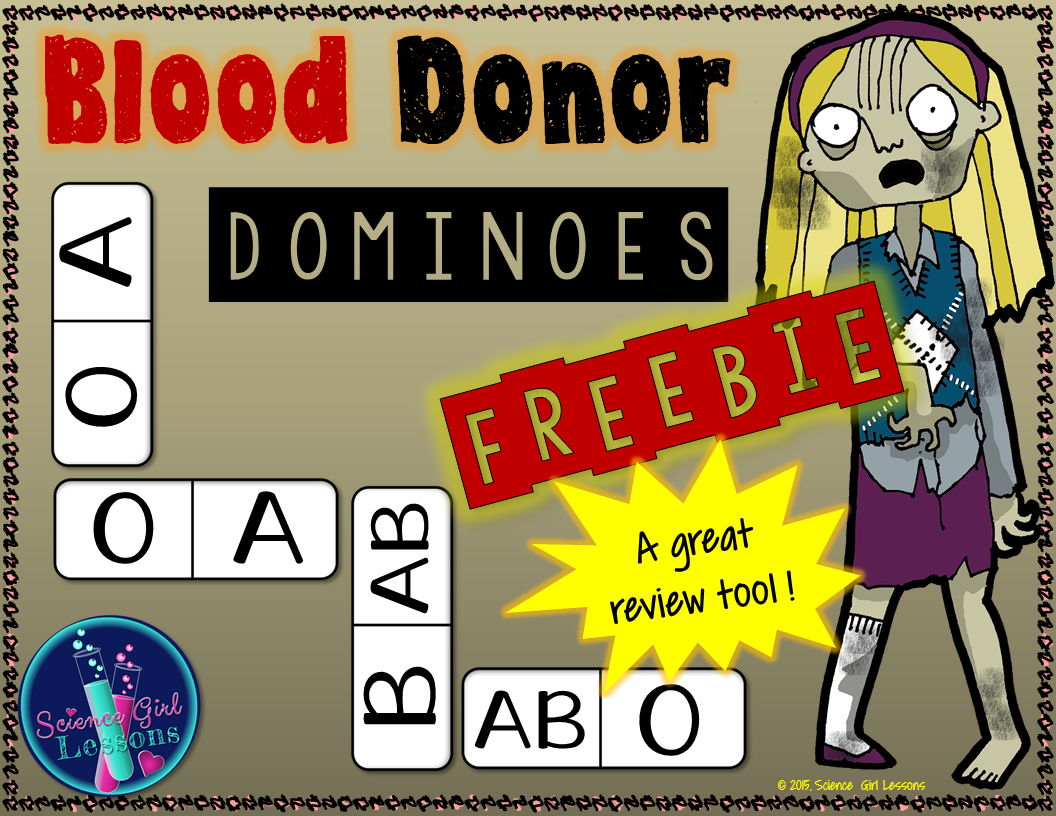 Blood Donor Dominoes A Blood Type Matching Game
