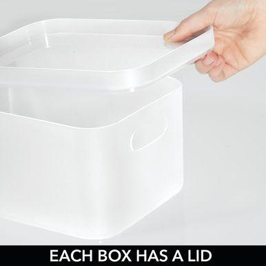 Mdesign Modular Bathroom Vanity Countertop Storage Organizer Set