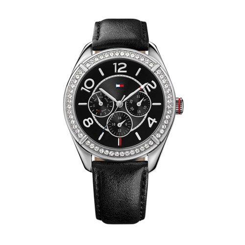 fd2e06c48ff Relógio Feminino Tommy Hilfiger com pulseira de couro preto. 1781248 ...