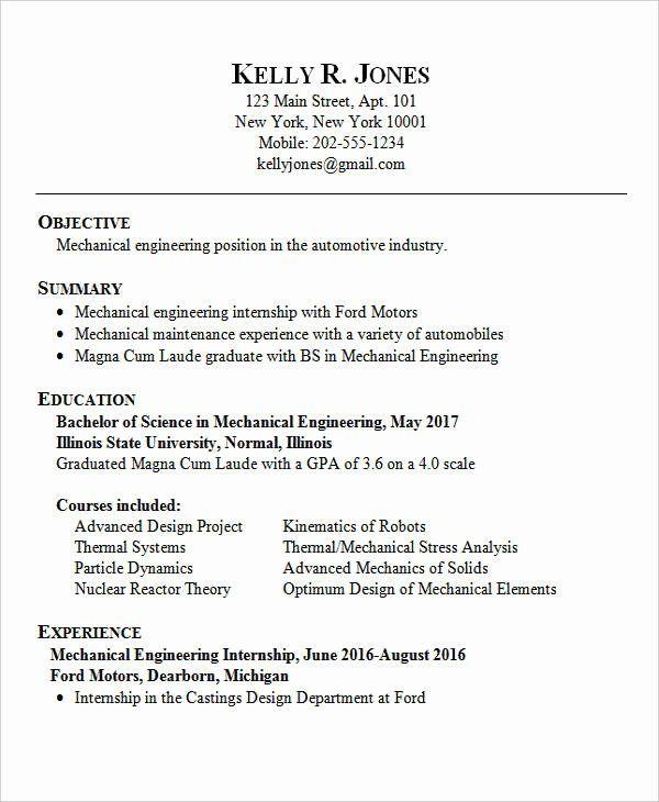 entry level engineering resume inspirational 25 best