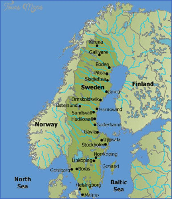 awesome Sweden Map Tourist Attractions Tours Maps Pinterest