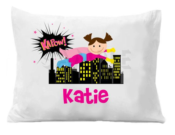Superhero Personalized Pillow Case