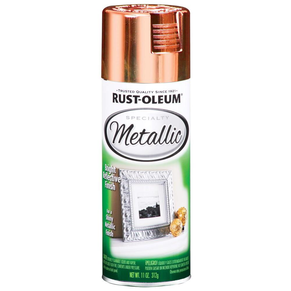 rust oleum specialty 11 oz metallic copper brown spray paint 6