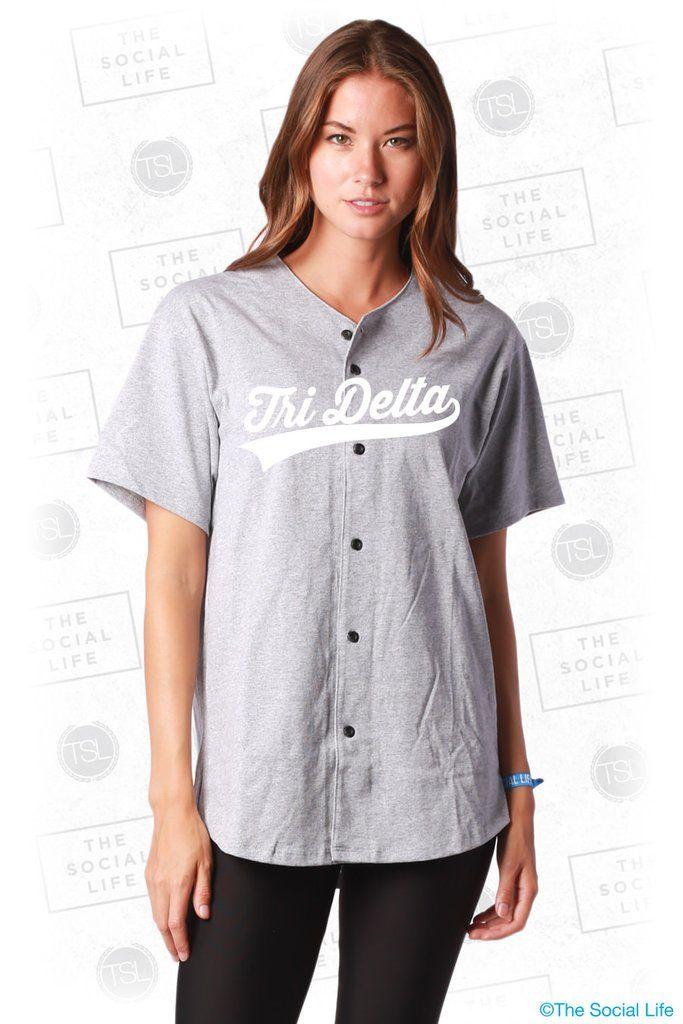 946aa21ae1e Delta Delta Delta Baseball Jersey | Mens Baseball Jerseys | Baseball ...