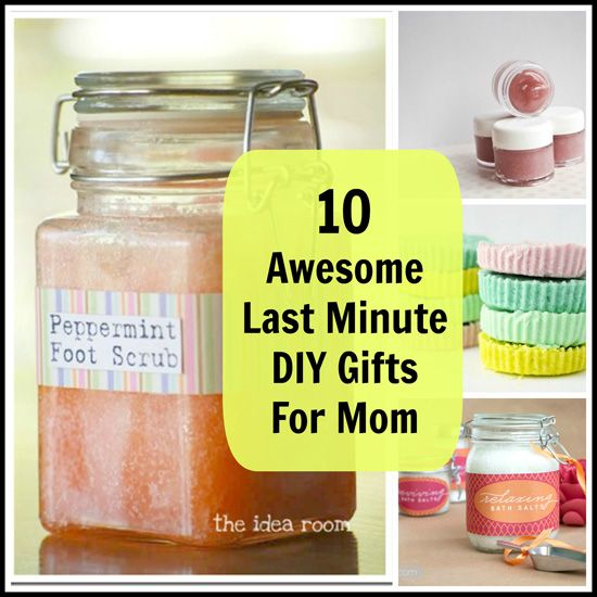 10 Awesome Last Minute Diy Gifts For Mom Gift Craft And