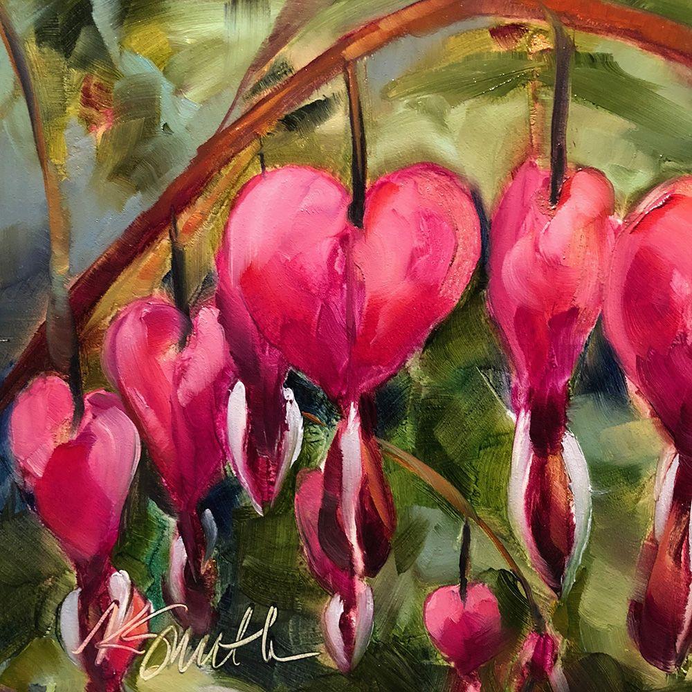 Bleeding Hearts Is An Original Oil Painting By Lancaster Pa Artist Kim Smith Originalart Bloom Bleedingheart Flower Painting Original Oil Painting Painting
